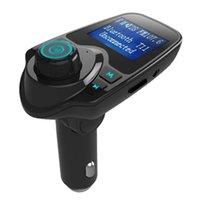 شاحن T11 سيارة مشغل MP3 بلوتوث اللاسلكية وزير الخارجية الارسال وزير الخارجية المغير عدة السيارة يدوي A2DP 5V 2.1A USB لفون سامسونج