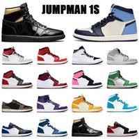 2021 Erkek Basketbol Ayakkabıları 1 1 S UNC Duman Gri Yüksek OG Sevgililer Günü Mahkemesi Mor Kaktüs Jack Açık Spor Eğitmenler Sneakers Ayakkabı US12