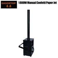 GIGERTOP à distance / DMX Angle de contrôle réglable Support Poignée Confetti ventilateur 1800W Jet 6-8 Mètres brouillard Effet machine CE certificat