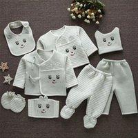 MOMS Emotion (8шт / комплект) Младенческая одежда 0-3 м Новорожденные детские костюмы малыша одежда наборы детские мальчики девушки костюм термический органический хлопок 201127