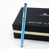 Jinhao ماركة 301 نافورة معدنية القلم الفاخرة مدرسة الحبر canetas لخط الكتابة هدية طالب حبر القلم 1