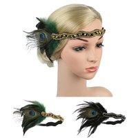 Cristalli di piuma Vintage Wedding Accessori per capelli delle donne Strass elegante del partito del fiore cinghia fascia delle signore accessorio dei capelli