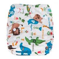 Pañales reutilizables de tela Fábrica de fábrica ecológica Portátil portátil Pañal caliente regulable Eco Baby Paño Pañales L81