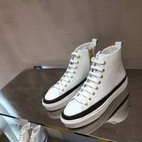 Stellar Sneaker Boots Женская мода Дизайнерские женские Узелок Zipper Квартиры высокого топ кожаные кроссовки повседневная обувь с коробкой