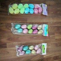 Multi cor pássaro ovo plástico simulação flash pó brinquedo pó ovos Easter festival decoração forma de alta qualidade 0 4lk p2