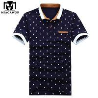 Miacawor novo polo camisa homens 95% de algodão camisa de verão poloshirts moda crânio pontos imprimir camisa tops tees mt437 t200505