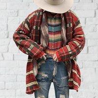 Sweaters pour hommes Muyogrt Winter rouge bleu jaune patchwork cardigan ins style 2021 manteau de pull de mode Hommes Femmes Col V-Col Laine Plaid