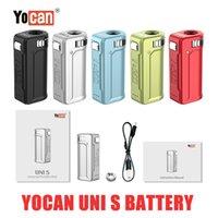 Autentico YOCAN UNI S Box mod 400mAh Preheat VV Batteria a tensione variabile con adattatore magnetico 510 a 5 colori per tutte le tipi di cartuccia olio spessa