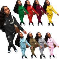 Brand Designer Women Tracksuits Hoodies+ Pants Two Piece Set ...