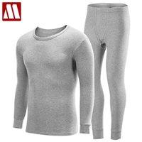 S-xxxxl homens plus size underwear térmico conjuntos masculinos fundo de inverno mais grosso quente redondo pescoço undershirts homem longo johns lj201008