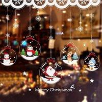 [Shijuekongjian] Papá Noel Pegatinas de la ventana de Navidad DIY Adornos de copo de nieve Decalos de pared para la sala de estar Decoración de vidrio1