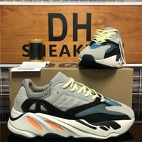 Alta Qualidade 700 V2 Kanye West das mulheres dos homens Running Shoes corredor da onda Yecheil Hospital Cinzento Azul 3M reflexiva Trainers Sneakers Tamanho 36-47