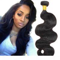 Cheveux brésiliens Weave corps Bundles Human Wave 4 Cheveux Bundles 7A Niveau 100% Remy Hair Extensions non transformés Couleur Noir Naturel