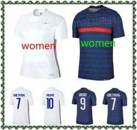 20 21 Griezmann Mbappe 2 Yıldız Fransız Futbol Jersey Pogba Kante Dembele Varane Matuidi Futbol Gömlek Kadın Seti Maillot de Foot