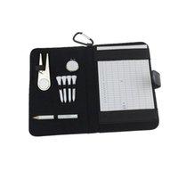 Crestgolf Golf نقاط بطاقة حامل PU غطاء مع قلم رصاص / ديفوت أداة / جولف تيز / قبعة كليب 201026