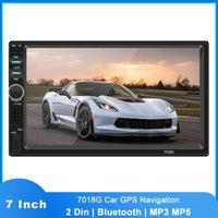 AUDIO AUDIO 7 '' HD Touch Screen 2Din 7018G Stereo Multimedia Player GPS Navigaiton Mappa della fotocamera Bluetooth Autoradio Radio