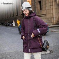 Vielleicht Neve Wear longa jaqueta Parka Inverno Mulheres com capuz Windproof Vestuário Feminino bolso Thicken casaco de inverno Mulheres
