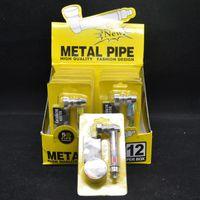 Piccolo tubo di fumo piccolo metallo portatile in metallo serie reggae Set di fumo con scollo a tubo con schermi in argento e