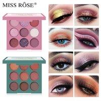 Fashion Eyeshadow Palette 9 Colors Diamond Matte EyeShadow Makeup Shimmer Nude Pigment Powder Eye Shadow Make Up Cosmetics TSLM1