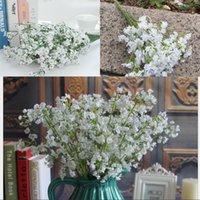 Fiori bianco puro Wedding le decorazioni di simulazione artificiale di morbido silicone Gissola Mazzi festa a casa Matrimoni Fiore Decor 1 97rs G2