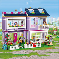 Compatible with lepining Friends Emma's House 41095 Building Blocks Emma Mia Figure Educational Toys For Children Girl LJ200928