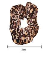 Гладкий коралловый флис бархат классический леопардовый принт головных волос эластичные галстуки волос эластичные стяжки волос Женщины аксессуары для волос Q SQCJRE