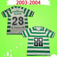 Sporting Lissabon Retro 2003 2004 Soccer-Trikots # 28 C.Ronaldo 03 04 Vintage Maillot Danny Camisa de Futebol SA Pinto Classic Football Hemden