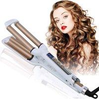 3 Varil Saç Curling Demir Değnek 0.6 inç LCD Ekran Turmalin Seramik Saç Waver Curling Demir Hızlı Isıtma Saç Waver Bigudi