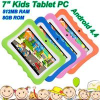 Çocuklar Tablet PC 7 inç Dört Çekirdekli çocuk tableti Android 4.4 Allwinner A33 google oyuncu wifi büyük hoparlör koruyucu kapak