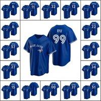 Top-Qualität Männer # 99 Hyun-Jin Ryu 27 Vladimir Guerrero Jr. 11 BO Bichette Custom Women Youth Baseball Jersey