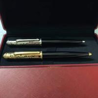 2021 절묘한 디자인 다이아몬드 볼펜으로 펜촉 펜 펜 한정판 금속 볼펜 빨간색 상자 + 수동