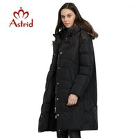 Parkas para baixo Parkas Astrid 2021 Jaqueta de Chegada de Inverno Mulheres Solto Roupa Outerwear Qualidade com um casaco de estilo de moda hood ar-65991
