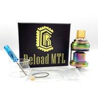 Melhor preço Recarregar MTL RTA Tanque 22mm diâmetro 2ML Atomizador ajustável com dicas de gotejamento amarelo Bocal Vape Mod