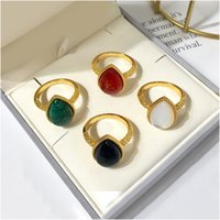 High Quality Rings Vintage Natural Stone Rings Fashion Costume Gemstone Female&Male Ring Jewelry For Women With Box Free Shipping Wholesale