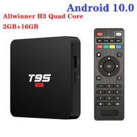 T95 Super Android 10.0 TV Box Allwinner H3 2GB RAM + 16GB 2.4G WIFI HD OTT Media Player PK X96Q X96
