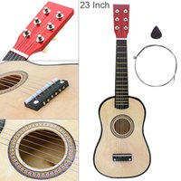 23 pollici Basswood Guitar Acoustic Wood Color 6 String Musical Strument con chitarra Pick and String