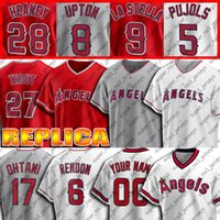 27 Mike Trout Jersey 6 Anthony Rendon Jerseys 17 Shohei Ohtani Jersey 2 Andrelton Simmons 31 Ty Buttrey 15 Castro Custom Baseball Jersey