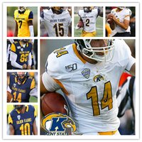 2021 NCAA College Kent State Golden clignote Jersey Football Woody Barrett C.J. Holmes Tony Butler Dustin Crum Ty Berrong Luke Floriea 4XL
