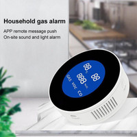 Tuya Wifi Smart-Natural Gas-Alarm-Sensor mit Temperaturfunktion brennbaren Gas-Leck-Detektor-LCD-Display Smart-Life App