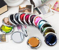 Make Up Cosmétologie Miroir cristal Fold Portable Cadeau Madame Lettrage Cosmetic Compact circulaire Miroirs main 2 55wc M2 recto-verso