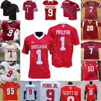 Custom Indiana Hoosiers Football Jersey NCAA College Michael Penix Jr. Stevie Scott III Whop Philyor Hendershot Ty Fryfogle Marshall Swinton