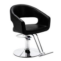 WACO Barber chair, Classic Arc Volume Back Hydraulic Pump, Salon Furniture Beauty Shampoo Barbering Chairs for Hair Stylist, Black