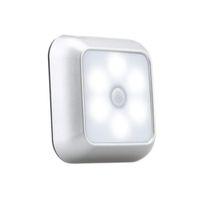 Yeni Akıllı Hareket Sensörü LED Gece Işık Gece Lambası Pil Kumandalı WC Başucu Lambası Odaya Koridor Yolu Tuvalet Nightlight