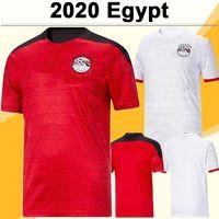2020 Egitto Kahraba Mens Soccer Jerseys National Team Home Rosso Away White M.salah Ramadan Kahraba M. Elneny Camicia da calcio Uniformi