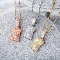 Роскошная ожерелье женщин ювелирные изделия хип-хоп Иисус Кусок Подвеска Bling Алмазная Iced Out Подвески Подвески Мода Заявление Аксессуары Новое