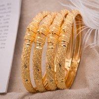 Mujeres Brazalete de color dorado brazaletes de boda para mujeres que la novia puede abrir pulseras indio / etíope / francia / africano / dubai Regalos de joyería Y1218