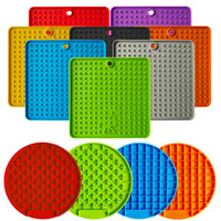 Slow Food Mat ventosa leccata di Mats Pet Food Mat silicone Slow Food Mat cane che lecca Piastra Mats Pet Products EEA2171
