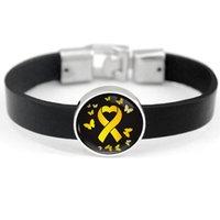 Sensibilisation Puzzle Cure de la poitrine de l'enfance Autisme Cancer Orange Rose Ruban Ruban Bracelets Femmes Hommes Bijoux