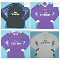 Langarm 2016 2017 Retro Real Madrid Fußball Jersey Pepe Ronaldo Kross Benzem Football Hemd 16 17 James Vintage Camiseta de Fútbol
