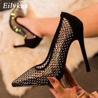 Eilyken Sexy Hollow Out Cozy Breathable Mesh Rhinestones Wom...
